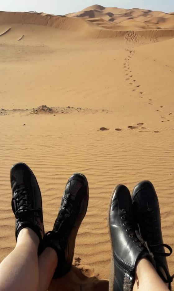 les chaussures Remonte dans le désert !